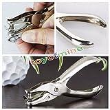 1PCS ufficio argento metallo occhiello superiore perforazione pinze mano cintura cinturino fori punzoni strumento foro singolo