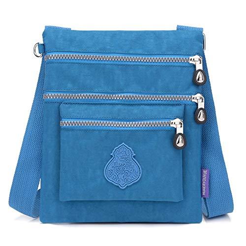 wasserdichte Waschlappen Tasche lässig Messenger Bag einfache Kasse Business-Paket mehrschichtige leichte tragbare Tasche Meerblau -