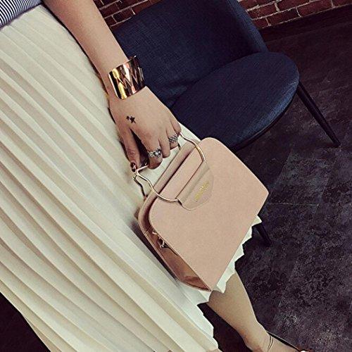 Igemy Mode Frauen Leder Handtasche Crossbody Schulter Messenger Telefon Münze Tasche Pink