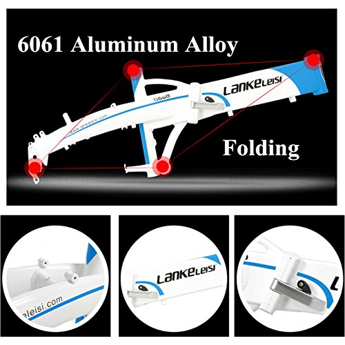 "51DHHzVeCtL. SS500  - LANKELEISI G660 48V10Ah High Power Hidden Battery 500W 20"" Pedal Assist Folding Electric Mountain Bike, Aluminum Alloy Frame, Suspension Fork,Pedelec."