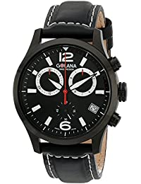 Golana Swiss Men's AE210-1 Aero Stainless Steel Leather Chronograph Watch