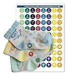 Haberdashery Online Set per Abbinare Calzini: 60 Etichette Termoadesive (Junior 1)