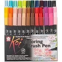 Sakura KOI Coloring Brush Set 24 - Pack de 24 rotuladores, Punta pincel