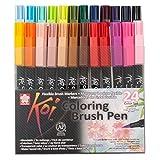 Sakura Koi Coloring Brush Pens 24er-Set, 24 Pinselstifte im Etui