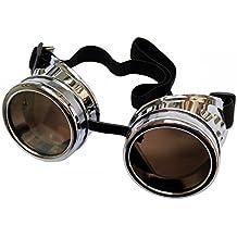 Steampunk BRILLE - SILBER Goggles