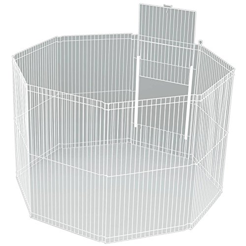 Artikelbild: Ware Herstellung Large Canvas 8-teilig Clean Living klein Laufstall Käfig, Weiß