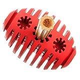 Tyker - Hundespielzeug - Rugbyball - Leckerli-Ball - Spielzeug für große & kleine Hunde - Rot