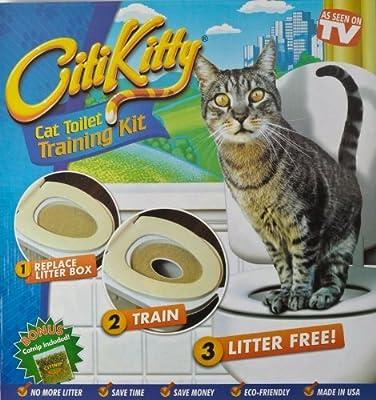 JJOnlineStore - Cat Kitten Litter Toilet Potty Train Training System Kit With Catnip