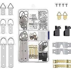 68 Pièces Ensemble de Picture Hangers, Crochets Cadre Photo Picture-Hanging Crochet pour Photos Suspendues de Maison et Bureau, Assorti