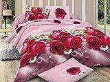 Shopcrats 3D-Floral Print Double Bedshee...