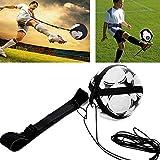 QHLJX Soccer Trainer, Football Solo Kick Trainer Elástica para Entrenamiento de Fútbol Soccer Skill Trainer Kit for Kids, Adecuado para Tamaño de Bola 3 4 5 (Negro)