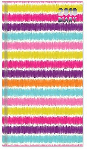 2018Slim Woche bis View Lebendige Polka Dot, Spots, Streifen oder Metall Ecke vergoldet Rand Design Tagebuch Gestreift (Rand Gestreiften)