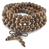 Search : Tibetan Style, Stillshine - 8mm 108 Pcs Wood Buddha Beads Bracelet Buddhist Prayer ,Charm Men Women Gift Box (Style 8)