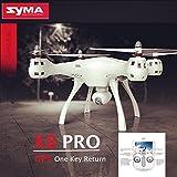 Syma X8PRO GPS Return Drohne mit 720p WiFi FPV Kamera EIN Schlüssel zurück 2.4 GHz RC Quadcopter GPS-Fixpunkt und High-Pegel, Headless-Modus, Datenübertragung in Echtzeit Drone