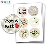 Papierdrachen Geschenkaufkleber - Sticker zur Dekoration von Geschenken - Frohes Fest - Aufkleber Weihnachten - Weihnachtsaufkleber - Design Nr 2