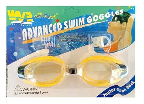 Inception Pro Infinite Schwimmbrille für Erwachsene und Kinder mit Nase und Ohrstöpsel (Dunkelgelb)