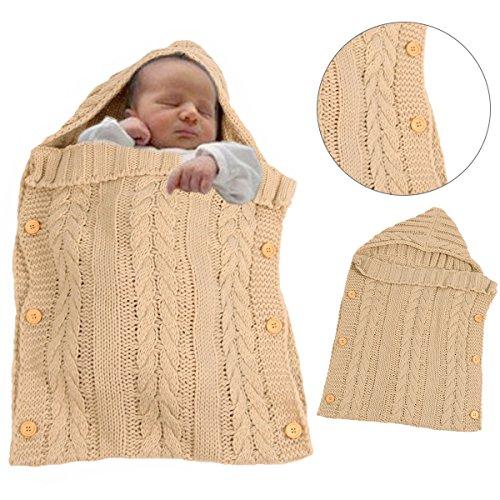 Sacco a pelo invernale per bambini 2.5 Tog – Sunroyal Maglia di lana sacco  nanna Swaddle ... dc6d9f196b20