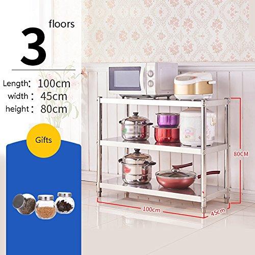 Mobili da cucina Scaffale da cucina di grande capacità Scaffale da forno  regolabile su tre livelli Tappetino da forno Acquista bottiglia da 200ml ...