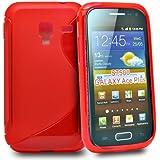 Accessory Master Housse en gel silicone pour Samsung Galaxy Ace Plus S7500 Rouge
