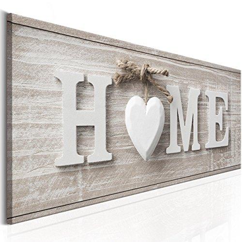 decomonkey | Bilder Home Haus 120x40 cm | Leinwandbilder | Vlies Leinwand | Wand | Bild | Wandbilder...