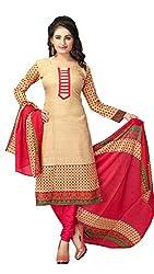 Maxthon Fashion Women Printed Regular Wear Unstitched Dress Material(Dress Material Chiku New 3026)