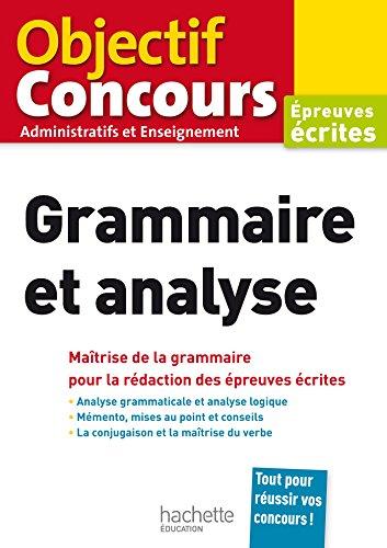 Objectif Concours Grammaire et analyse