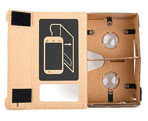 Duragadget CardBoard Brille für Virtual-Reality-Spiele mit Ihrem Homtom HT16 Smartphone