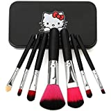 Homeoculture Pack Of 7 Face Brushes Comes In A Handy Tin Box Easy To Carry Best For Travelling 7 Pieces Make Up...
