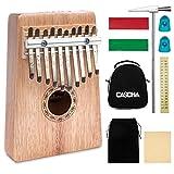 CASCHA Kalimba 10 Key, Mahogany, Thumb Piano with Case, Carrying Bag, Cleaning Cloth, Tuning Hammer, Key Stickers, Thumb Caps, Percussion Instrument