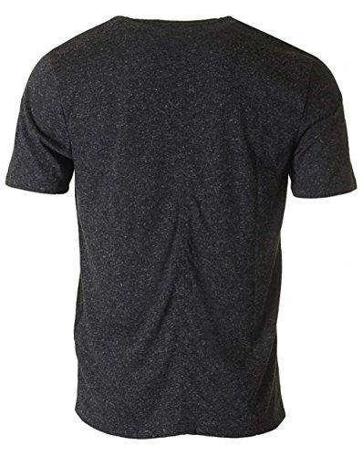 Levi's Herren Linie 8 Flecked T-Shirt, Schwarz Schwarz