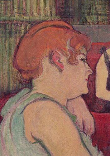 """Leinwand-Bild 40 x 60 cm: """"In the Salon at the Rue des Moulins, detail of one of the women, 1894 (charcoal and oil)"""", Bild auf Leinwand"""