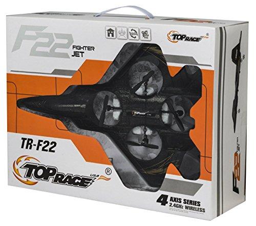 Top Race® F22 Düsenjäger 4 Kanal Rc Fernbedienung Quadcopter RTF (Farbabweichungen möglich) -