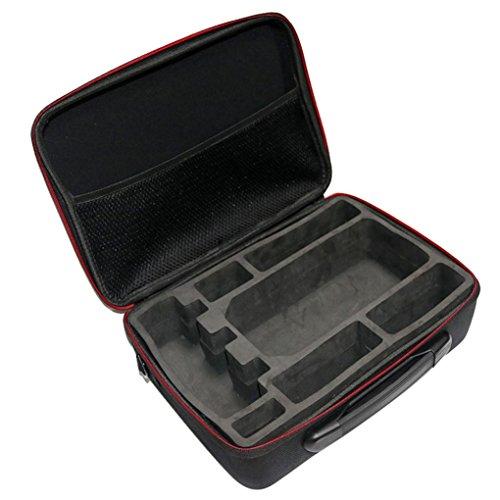 Fulltime® PC + ABS Hardshell Wasserdichte Tragetasche Suitcase Umhängetasche für DJI Mavic Pro RC Quadcopter, 29 x 21 x 11cm, Schwarz (Schwarz) - 5
