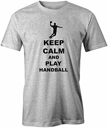 Keep calm and play Handball - Sport Hobby - Herren T-SHIRT Grau Meliert