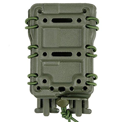 DECHO-C 5,56 mm Tactical Magazintasche Airsoft Jagd Schießen Molle Fastmag Soft Shell Mag Tragetasche Nylon Kunststoff Schnürung Elastische Load Out System