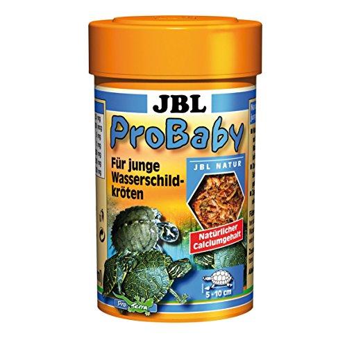 JBL Probaby 70360 Spezialfutter für Junge Wasserschildkröten von 5-10 cm Bachflohkrebse und Insekten, 100 ml (Fisch Gereinigte)