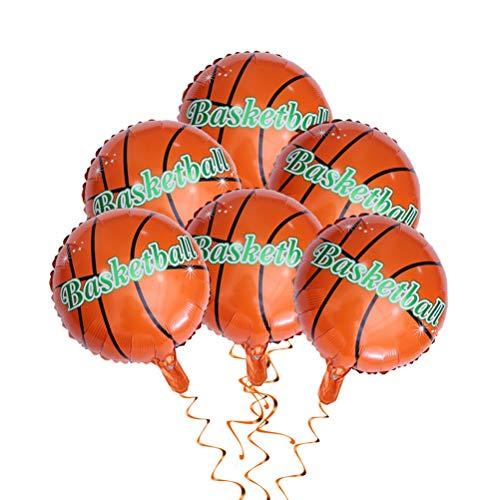 asketball Ballons Aluminiumfolie Ballon Partei Liefert für Geburtstag Welt Spiel Sport Party Dekoration 18 Zoll ()