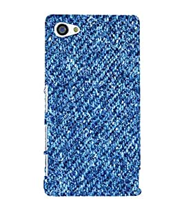 Blue Denim Pattern 3D Hard Polycarbonate Designer Back Case Cover for Sony Xperia Z5 Compact :: Sony Xperia Z5 Mini