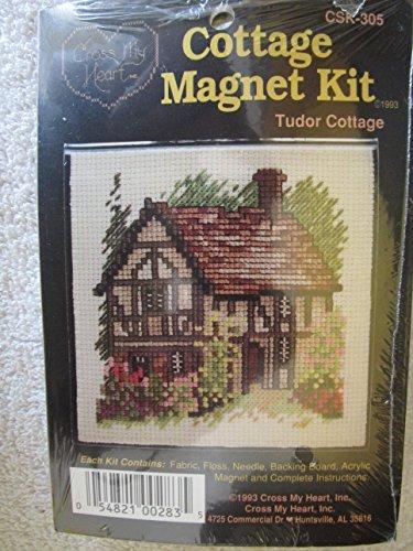 Tudor Cottage Kreuzstich Magnet-Kit