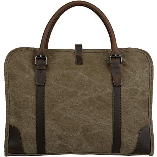 YALUXE - Bolso Bandolera de Lona para Hombre, Color marrón