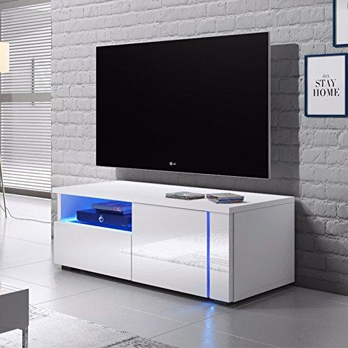 oxy unittv cabinet 100 cm matt whitegloss white front