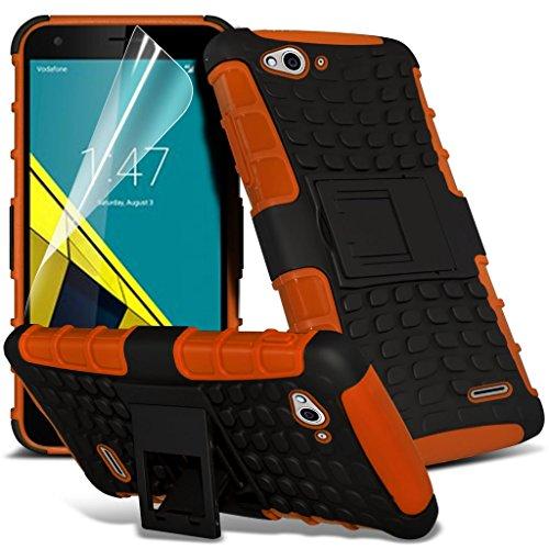 Vodafone intelligente 6 cas Titulaire ultra de téléphone Universal Support de voiture tableau de bord et pare-brise pour iPhone yi -Tronixs Shock proof (Orange)