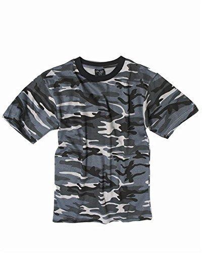Camo Kinder-camouflage-t-shirt (Mil-Tec Leichtes US Army Tarnshirt(Dark Camo/L))