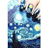 MZP van gogh noche estrellada romántica de uñas de arte de uñas pegatinas alta quailty herramientas de uñas de gel manicure maquillaje