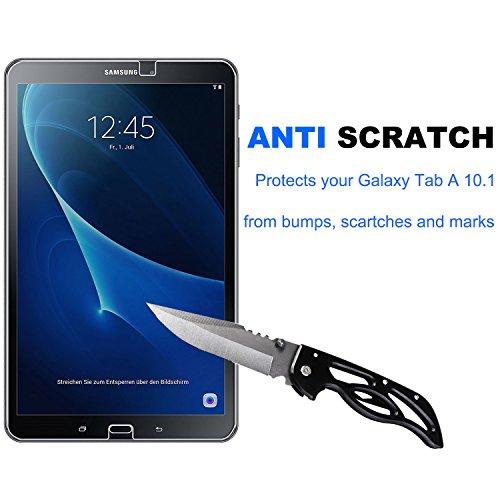 Samsung Galaxy Tab A 10.1 Panzerglas Displayschutzfolie, Nearpow Schutzfolie 9H Härte, Anti-Kratzen, Anti-Öl, Anti-Bläschen, Anti-Fingerabdruck - 2