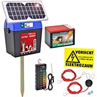 "SET: Elettrificatore ""Extra Power 9V Solar"" con pannello solare ed accessori"