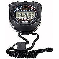 homiki Chronométreur Portable Compteur De Sport Montre Numérique Minuterie Chronomètre Sport Digital Chronomètre Minuteur avec Écran LCD, Noir