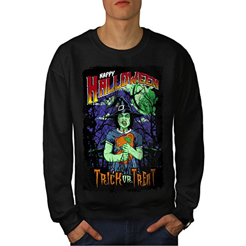 Halloween Hexe Horror Herren M Sweatshirt | - Halloween-gesicht Clown Ripper Geist