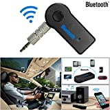 Bobogo Bluetooth Musikadapter, Drahtloses Bluetooth 3,5mm AUX Audio-Stereo Musik-Empfänger für zu Hause oder im Auto, Mikrofon