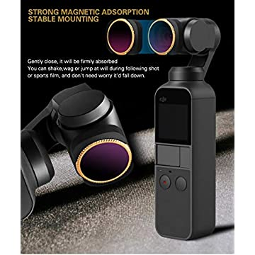 RONSHIN MCUV CPL NDPL ND64-PL ND32-PL ND4 ND8 Camera Lens Filter Kit for DJI OSMO POCKET Gimbal Accessories CPL ND4 ND8 ND16 ND32